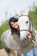 beautiful girl and horse.romantic production