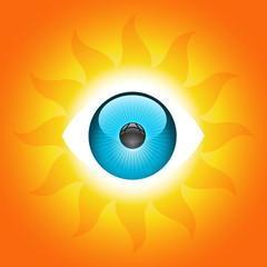 Vector Sunny Eye Symbol
