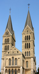 Church in Roermond, Limburg, Holland. Catholic landmark.