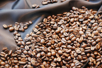 coffee beans aroma food background