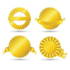 Golden medallions