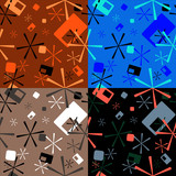 Abstract seventies star design that is ideal as a background poster
