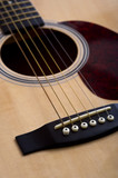 A 6-string acoustic guitar background poster