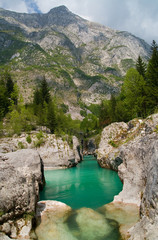 Emerald river canyon