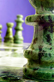 Chess pieces near and far poster