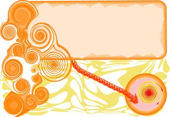 textbox against grunge orange frame