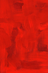 Abstract crimson oil painting. Highly detailed brush strokes.