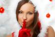 20-25 years olf beautiful woman wearing fur hood