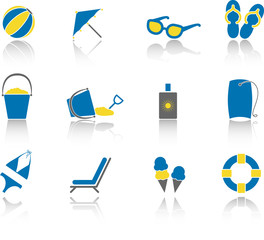 Beach Icon Set - Blue Version