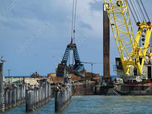 Dredging for ferry pier at Flatrock, San Fernando - Trinidad