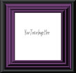 Black & Purple Modern Frame - with isolated clipping path