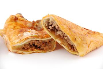 tortillas roulées au boeuf et au poulet