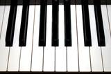 Piano in monochrome poster