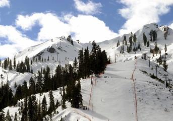 Lake Tahoe California Winter Snow