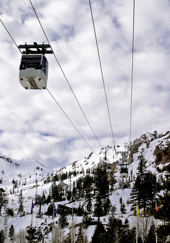 Ski resort gondola
