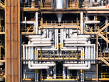 Pipes of a refinery of chemistry-chemical industry poster
