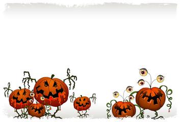 sfondo per halloween con zucche