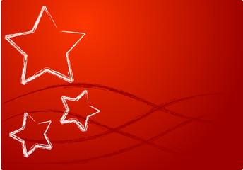 sfondo rosso con stelle natale