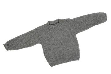 Children's wear - sweater isolated over white background