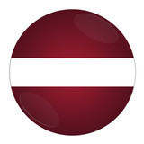 Abstract illustration: button with flag from Latvia country poster