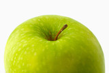 big green apple separately on  white background poster