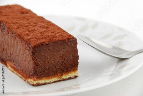Papiers peints Boulangerie gateau au chocolat dans une assiette