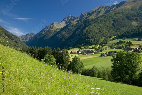 Dorf in den Alpen