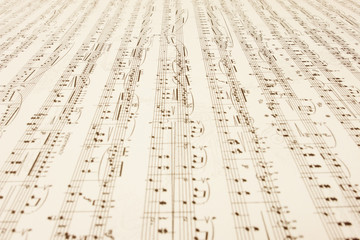 a long endless music-sheet.