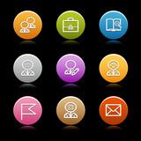 Color circle web icons, set 1 poster