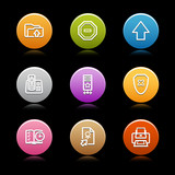 Color circle web icons, set 4 poster