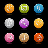 Color circle web icons, set 10 poster