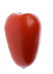 Isolated macro image of a tomato.