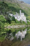 Kylemore abbey reflexes in lake with beautiful nature around poster