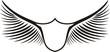 escudo sencillo con alas