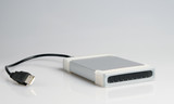 External hard drive with usb wire poster