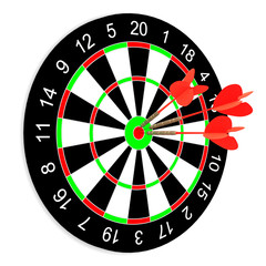 Darts on a white background. Isolated 3D image