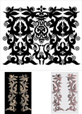 monochrome decorated strips poster