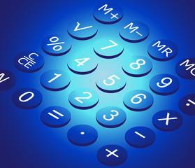 Calculator, vector illustration