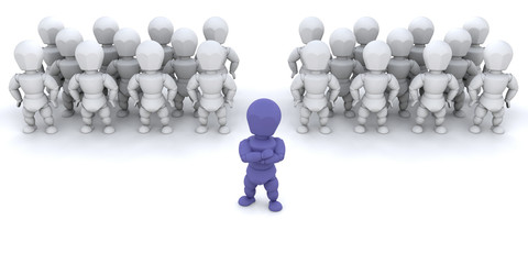 One person leading teams of people