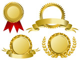 Fototapety gold award ribbons