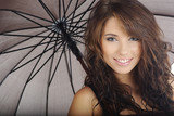 Fototapety beautiful girl with umbrella