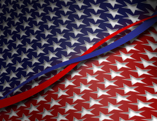 Red, White & Blue Patriotic Background, bipartisan concept