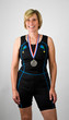 Physically Fit Senior Women Athlete Medal Winner