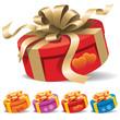A round gift box