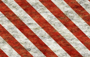Candy Cane Grunge Abstract Wallpaper in Red and White Stripes
