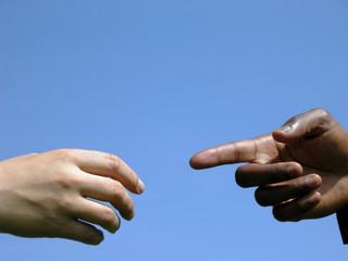 Suchende Hände