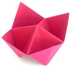salière rose en papier canson
