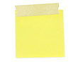 Sticky yellow note with masking tape.  Clipping path included.