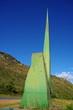 Chapada diamantina, statue moderne et paysage, Brazil.