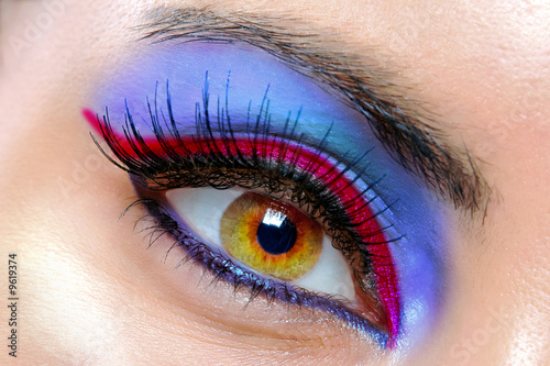 canvas print picture The macro beautiful female eye